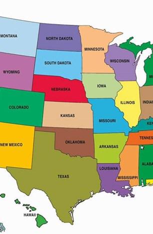 Trước khi chọn trường, hãy xem bản đồ nước Mỹ